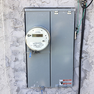 New Service Panel with Stucco patch